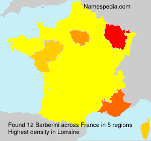 Surname Barberini in France