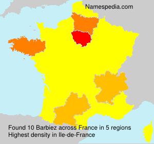 Familiennamen Barbiez - France