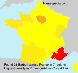 Surname Barbuti in France