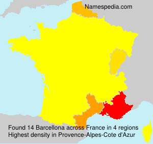 Surname Barcellona in France