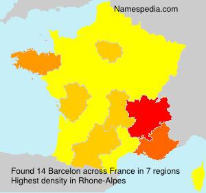 Familiennamen Barcelon - France