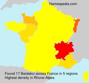 Familiennamen Bardakci - France