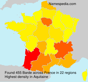 Surname Barde in France