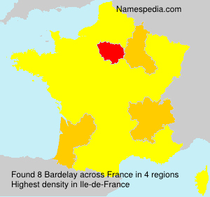 Surname Bardelay in France