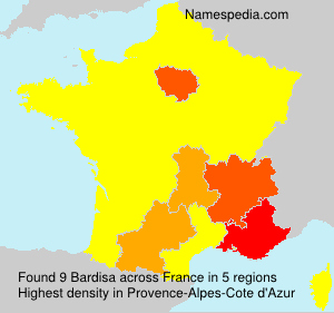 Surname Bardisa in France