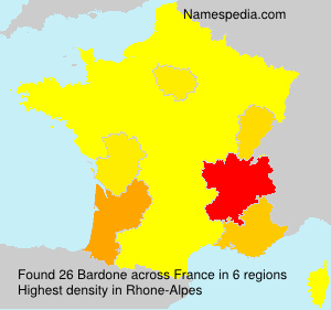 Surname Bardone in France