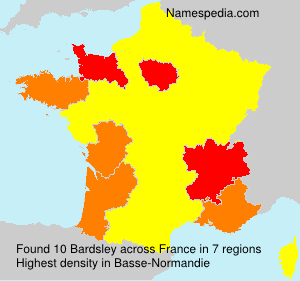 Surname Bardsley in France