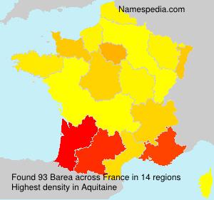 Familiennamen Barea - France