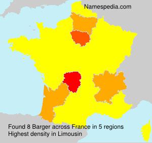 Familiennamen Barger - France
