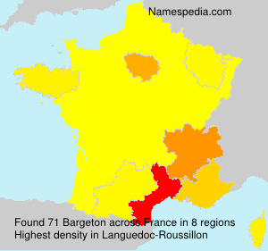 Surname Bargeton in France