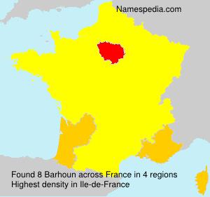 Familiennamen Barhoun - France