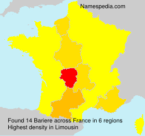 Surname Bariere in France