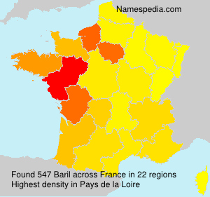 Surname Baril in France