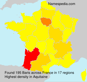Surname Baris in France