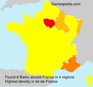 Surname Barko in France