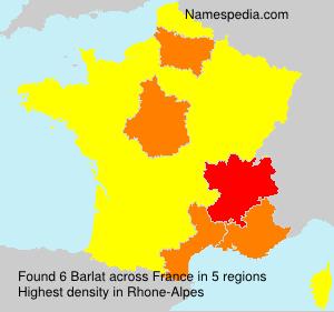 Surname Barlat in France