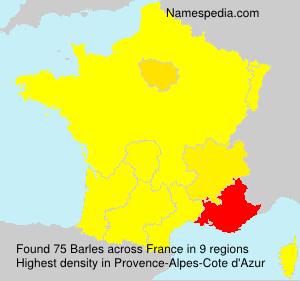 Familiennamen Barles - France