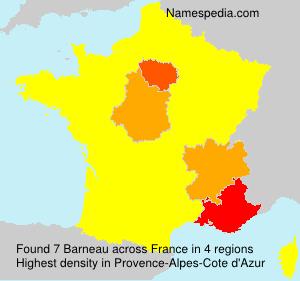 Surname Barneau in France