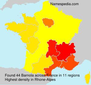 Familiennamen Barnola - France