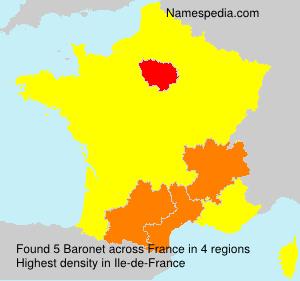 Familiennamen Baronet - France