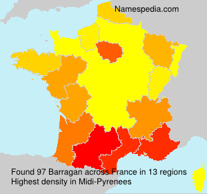 Surname Barragan in France