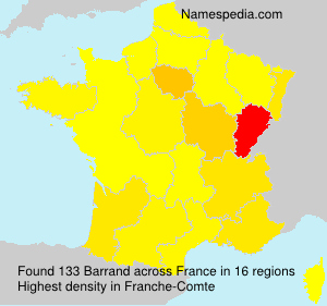 Surname Barrand in France