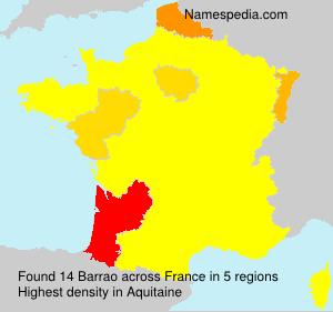 Surname Barrao in France