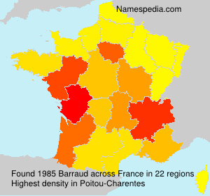 Surname Barraud in France