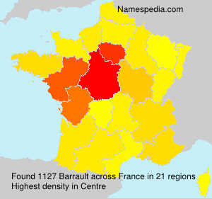 Surname Barrault in France