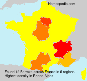 Surname Barraza in France