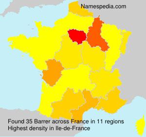 Surname Barrer in France