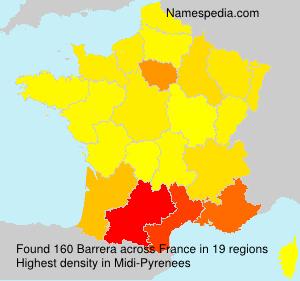 Surname Barrera in France