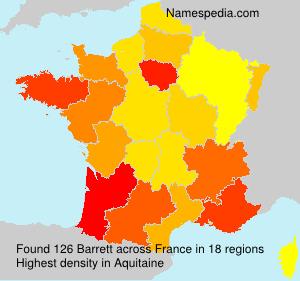 Familiennamen Barrett - France