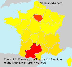 Surname Barrie in France