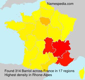 Surname Barriol in France