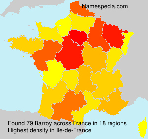 Surname Barroy in France