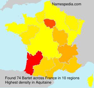 Surname Bartet in France