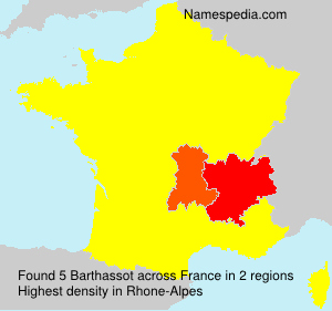 Surname Barthassot in France