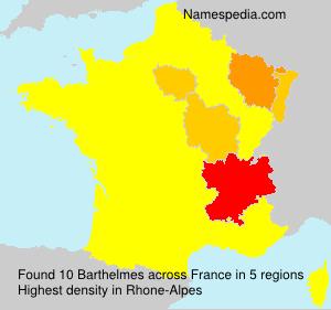 Familiennamen Barthelmes - France