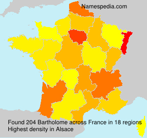 Surname Bartholome in France