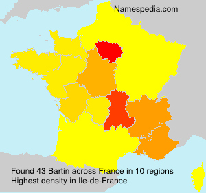 Surname Bartin in France