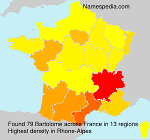 Surname Bartolome in France