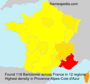 Surname Bartolomei in France