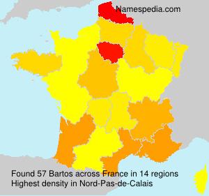 Surname Bartos in France