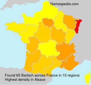 Familiennamen Bartsch - France