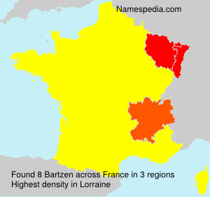 Surname Bartzen in France