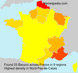 Surname Barucci in France