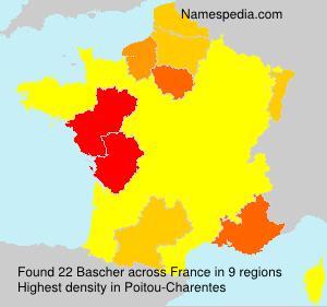 Familiennamen Bascher - France