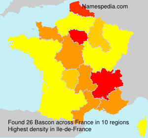 Surname Bascon in France