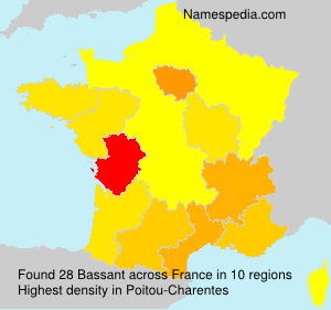 Surname Bassant in France